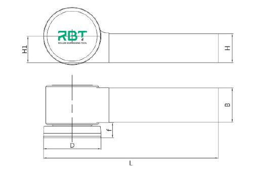 RBT Single Roller Outer Diameter Burnishing Tools, Outside Surface Single Roller Burnishing Tool