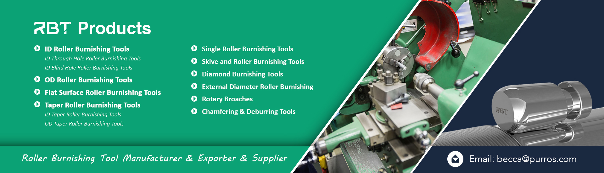 Roller Burnishing Tools Exporter